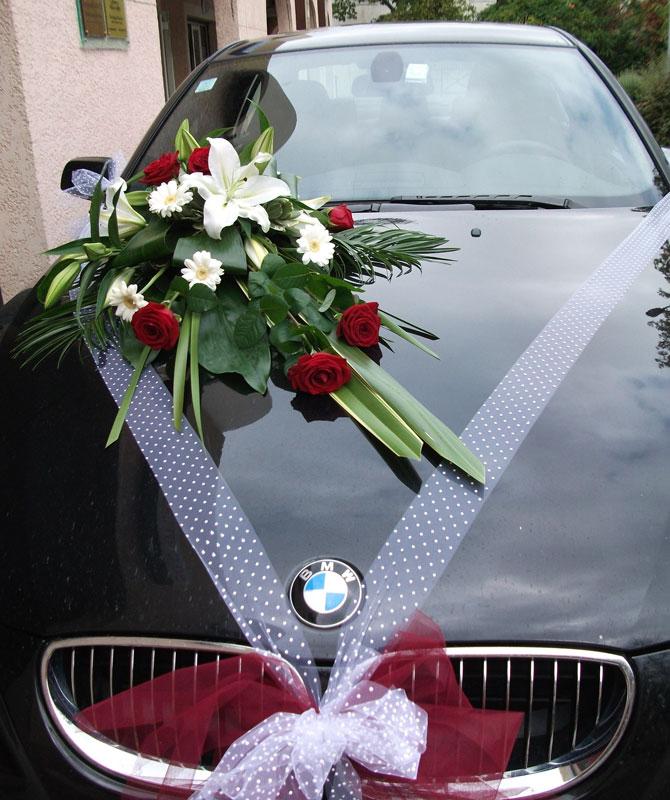 Decoration Voiture Mariage Bouquet