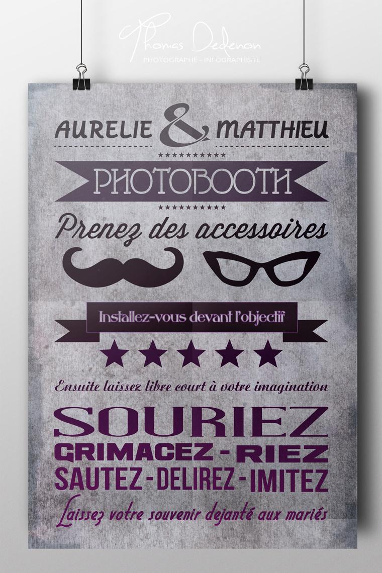 Affiche photobooth gratuite - ma jolie toile