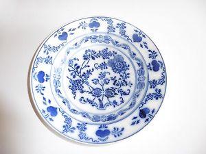 Assiette chinoise bleue