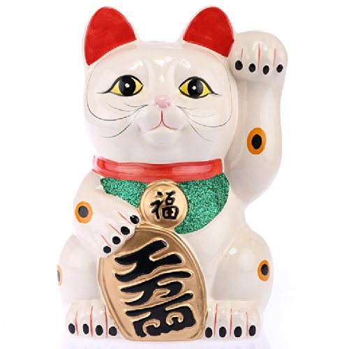 Chat chinois porcelaine