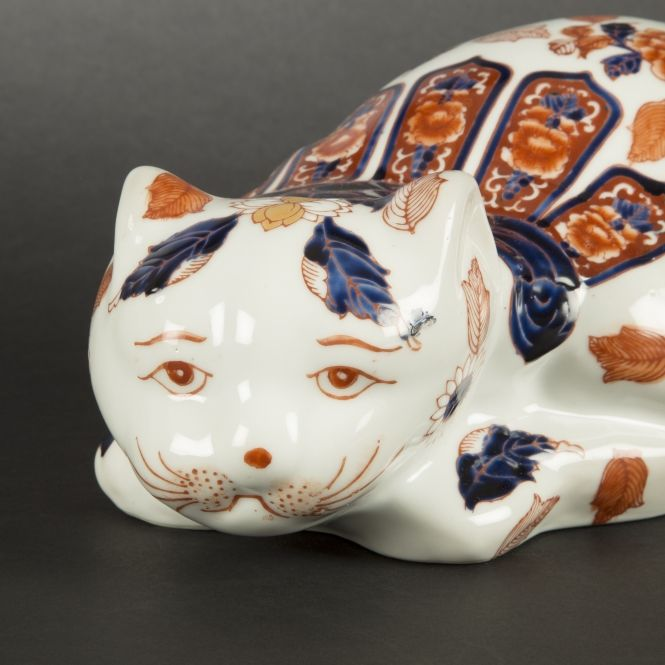 Chat porcelaine chinois
