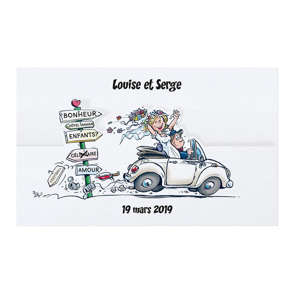 Faire part mariage voiture ancienne