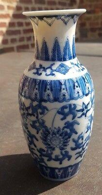 Vase chinois bleu et blanc